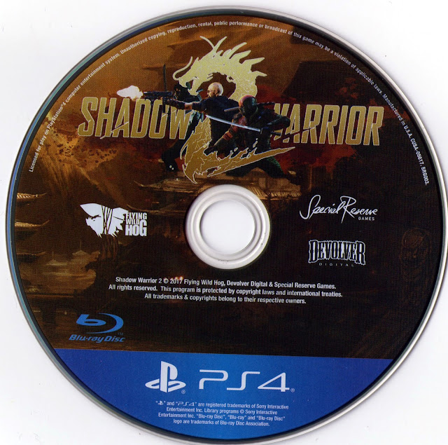 Shadow Warrior 2 PS4 Label