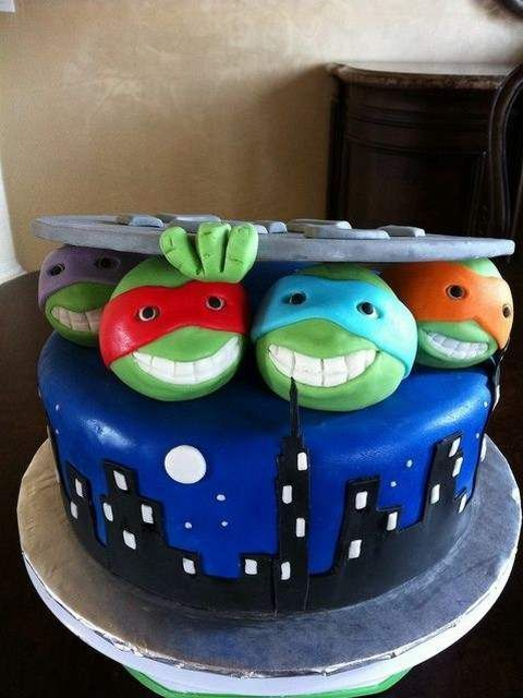 Ninja Turtles Birthday Cake