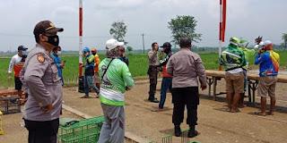 Akibat Kerumunan, Lokasi Balap Merpati Di bubarkan Satgas Covid-19 Kecamatan Bukateja
