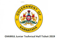 CHAMUL Junior Technical Hall Ticket