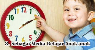 Jam Dinding Berfungsi Sebagai Media Belajar Anak-anak