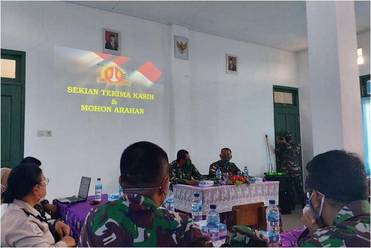 Korem 174 Atw Gelar Rakor Pergantian Satgaspam Perbatasan Indonesia Png Salam Papua