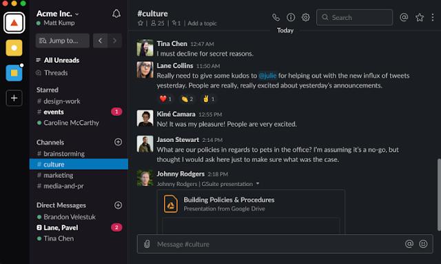 Slack يدعم الآن الوضع المظلم لنظام التشغيل Windows و Mac و Linux