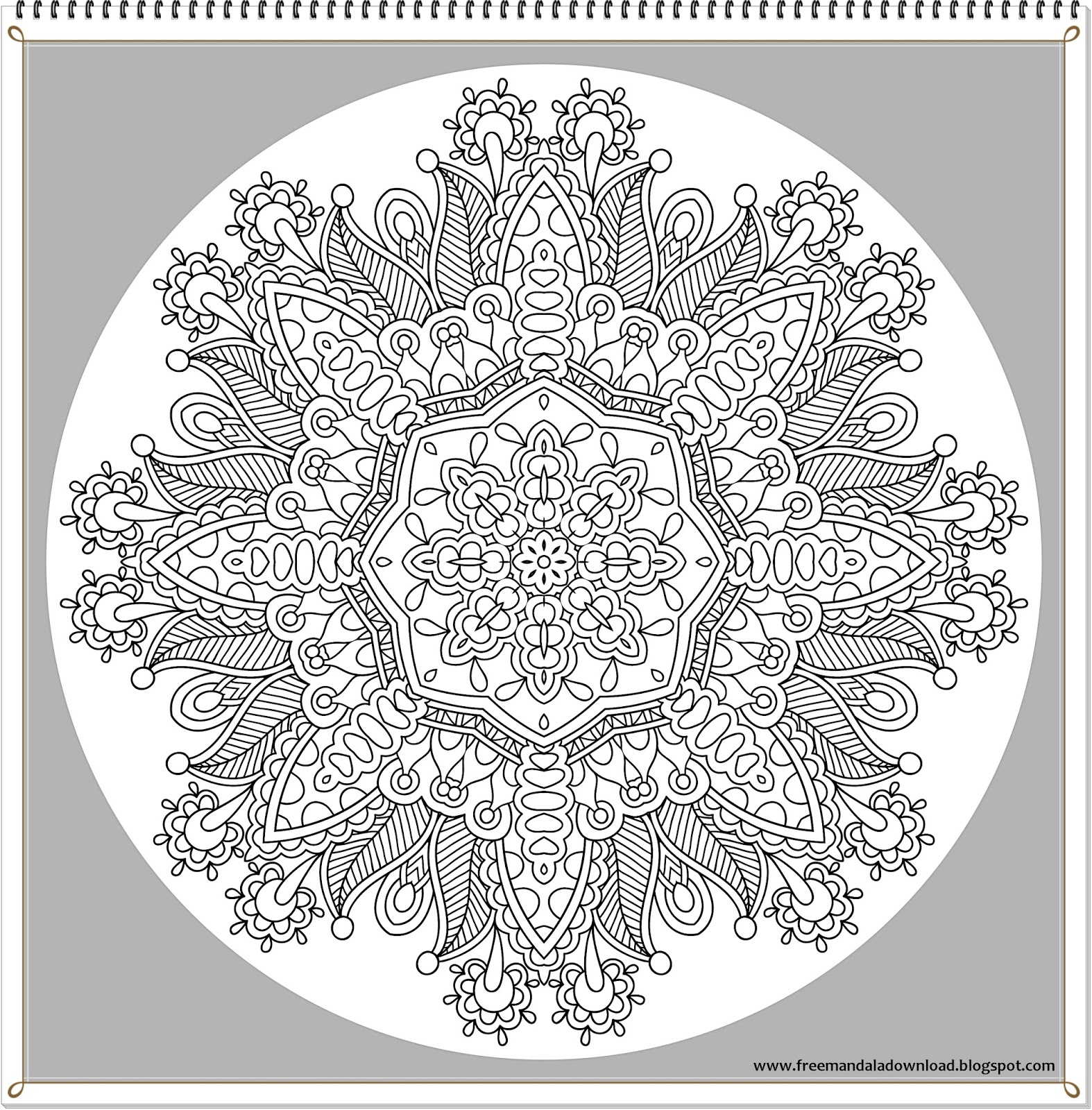 Sehr schwierige Mandalas - Free Mandala