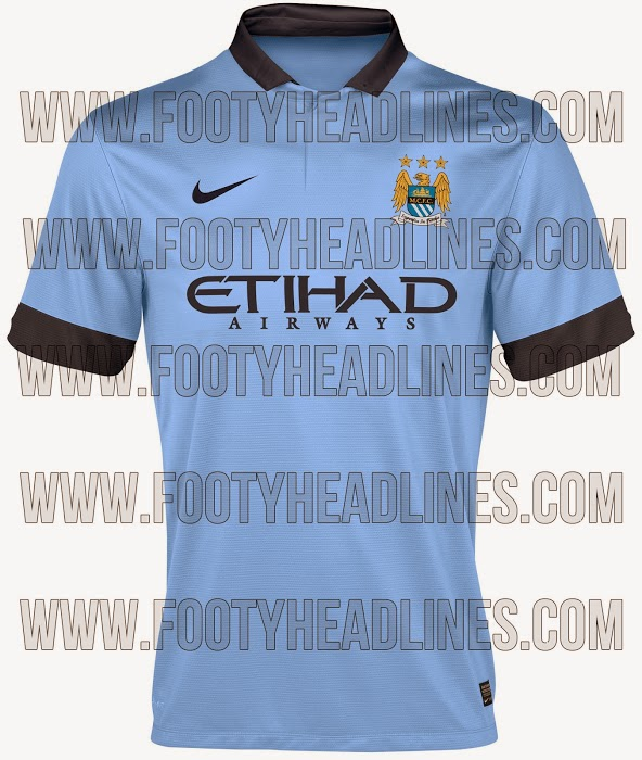 471800fb981 Footy Headlines is claiming that they have a leak of Manchester City's home  shirt for 2014-15: