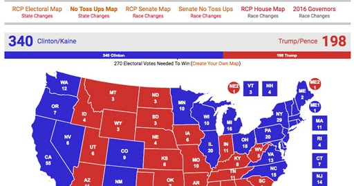The Randy Report: Today\'s Electoral Map Projection From ...