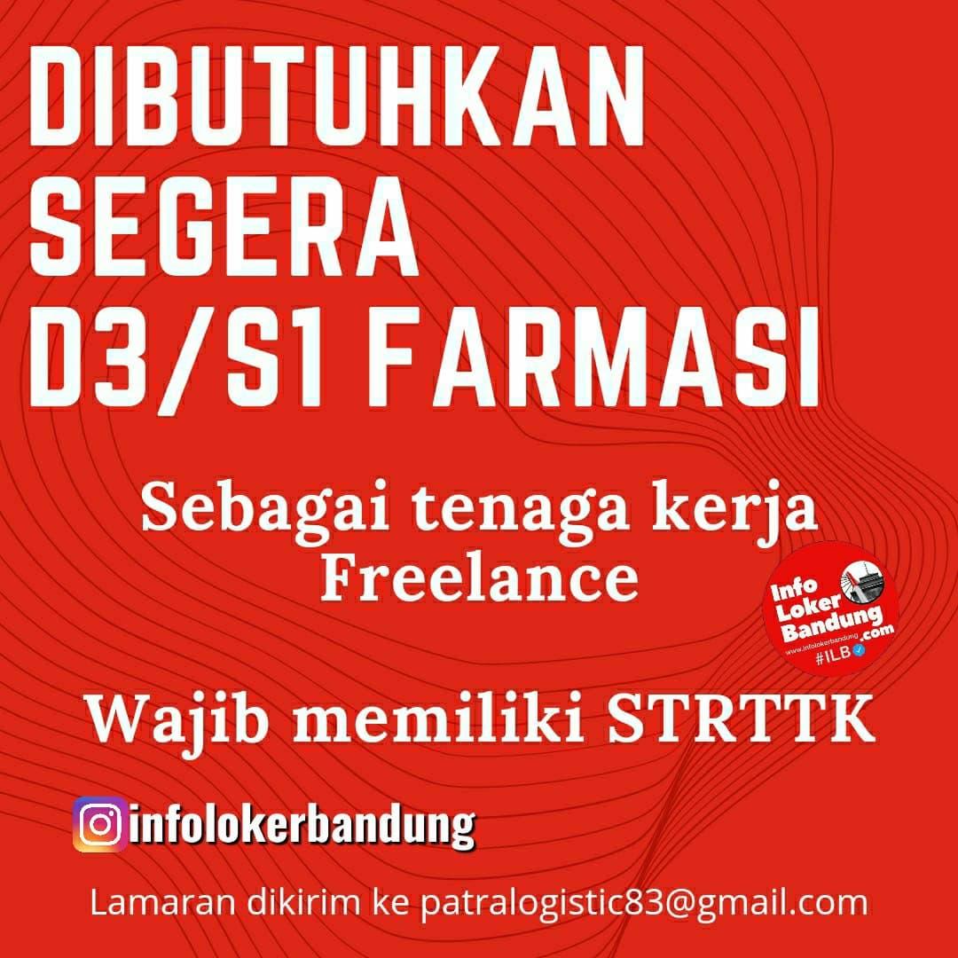 Lowongan Kerja Tenaga Kerja Freelance Farmasi Bandung Juni 2021
