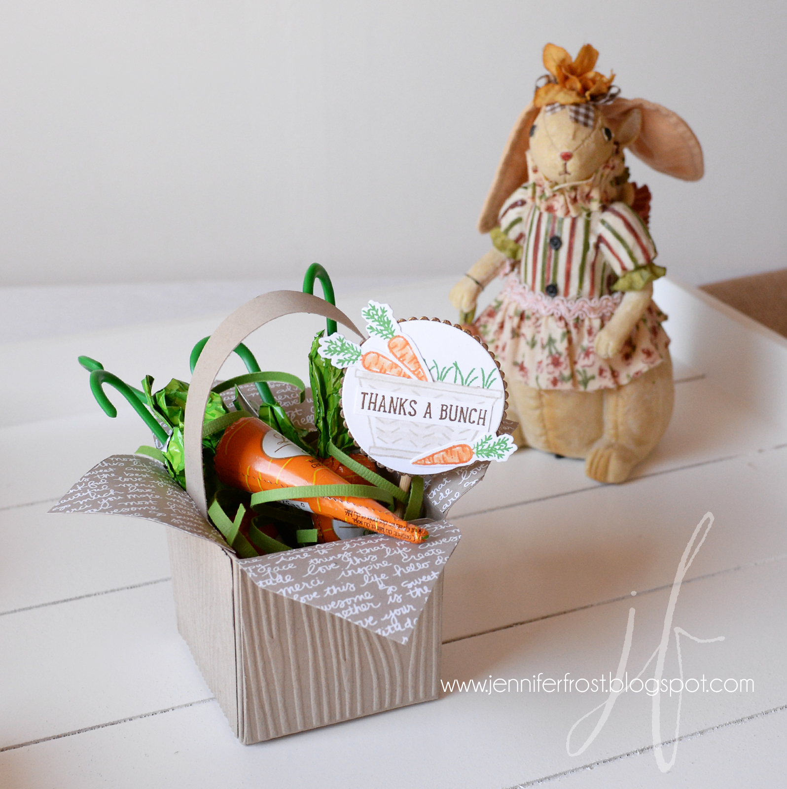 Basket bunch easter gift boxes papercraft by jennifer frost easter gift basket bunch easter basket thanks a bunch gift box punch negle Gallery