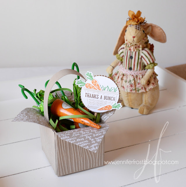 Easter gift, Basket Bunch, Easter Basket, Thanks a Bunch, Gift Box Punch Board, Papercraft by Jennifer Frost