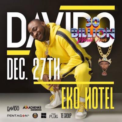 Davido to organize 30 Billion Concert in Lagos