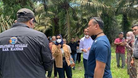 Disna Riantina dan Erik Sepria bersama tim Satgas Mafia Tanah Bareskrim Polri melakukan penyidikan dan pengumpulan data