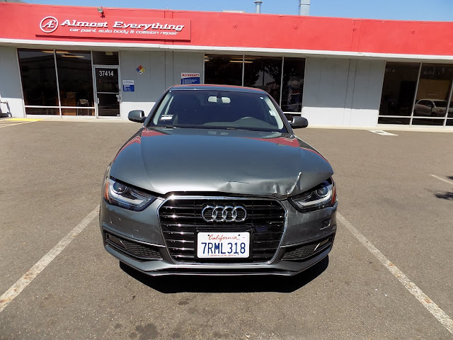2016 Audi A4 before auto body repair at Almost Everything Auto Body.