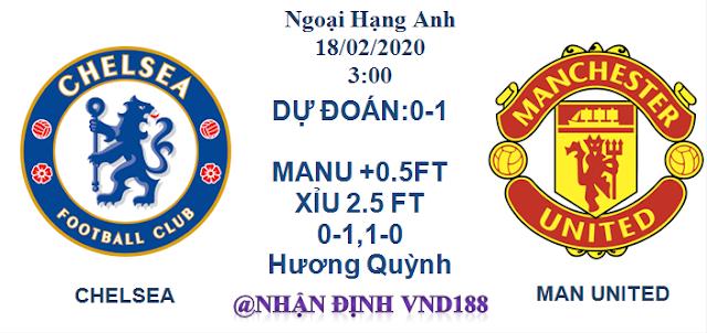 Nhận định VND188 Chelsea - Mu