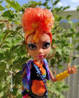 Orange Hair Howleen Wolf in the balcony