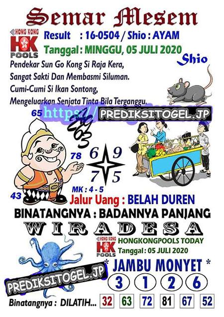 Semar Mesem Hongkong Minggu 05 Juli 2020