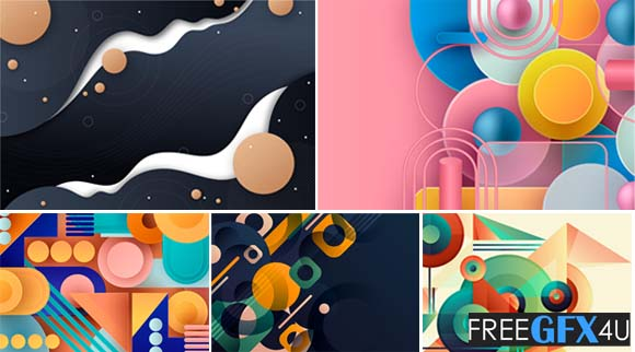 Abstract Background Geometric Shape Design