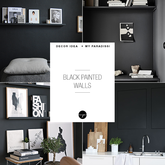 10 black painted walls to inspire you | My Paradissi
