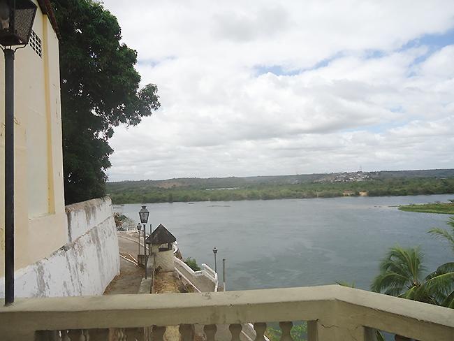 Vista do Rio No Restaurante Forte da Rocheira