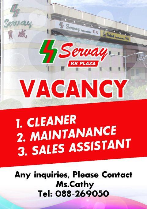 Kerja Kosong Sabah Jun 2021 | Temuduga Terbuka - Servay KK Plaza