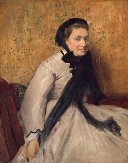 Эдгар Дега - Портрет дамы в сером (1865)