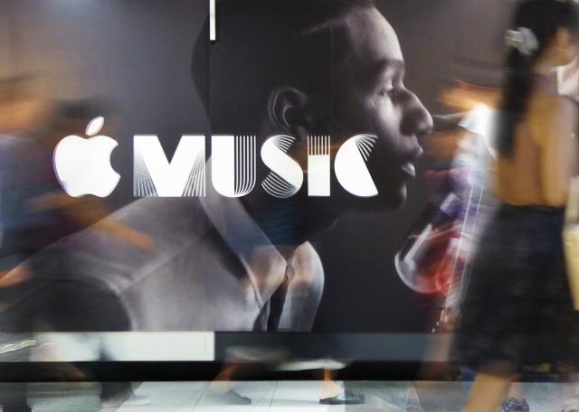 画像:apple musicのビルボード