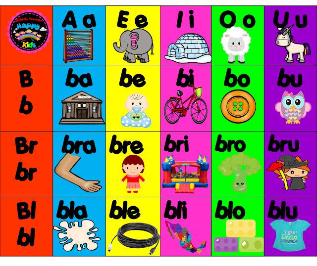 fichas-silabario-silabas Mi silabario de sílabas simples y trabadas