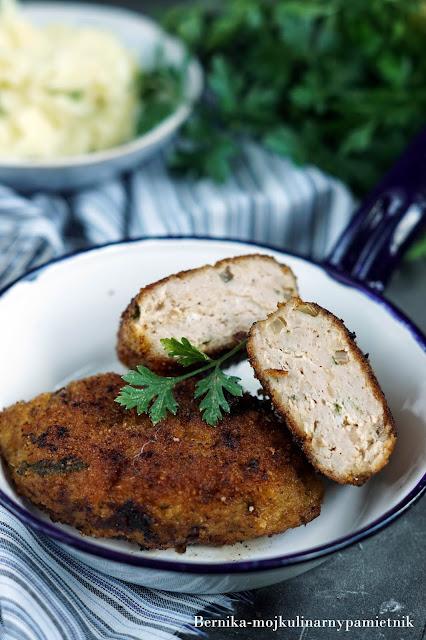 kotlet, pozarskie, mieso mielone, obiad, bernika, kurczak, kulinarny pamietnik