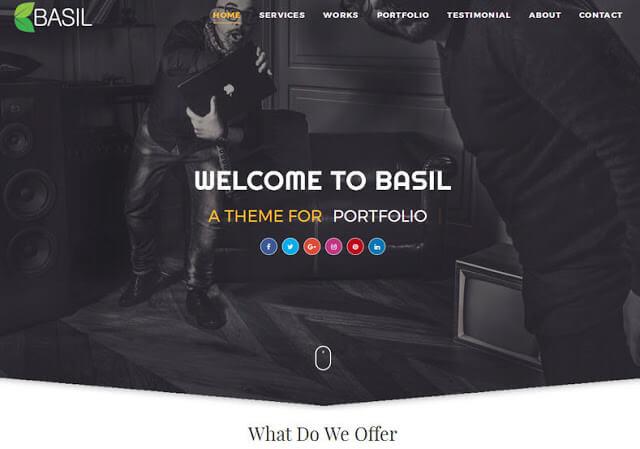 Basil Portfolio Free Premium Responsive Blogger Template