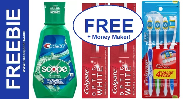 FREE Colgate Toothbrush & Toothpaste at CVS 818-824