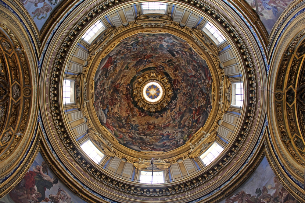 Ornate ceiling in Rome - style & travel blog