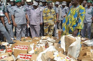 SHOCKER: IMPORTED Container of Jollof Rice, Egusi, Ogbono Soup SEIZED By Customs In Lagos