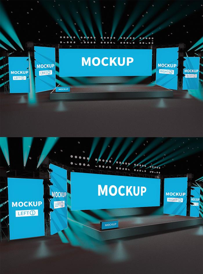 Original Scene Stage Background Mockup