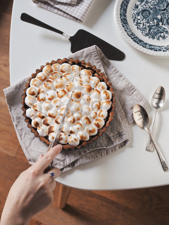Recette de tarte aux myrtilles meringuée