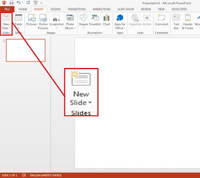PowerPoint 2013 newslide