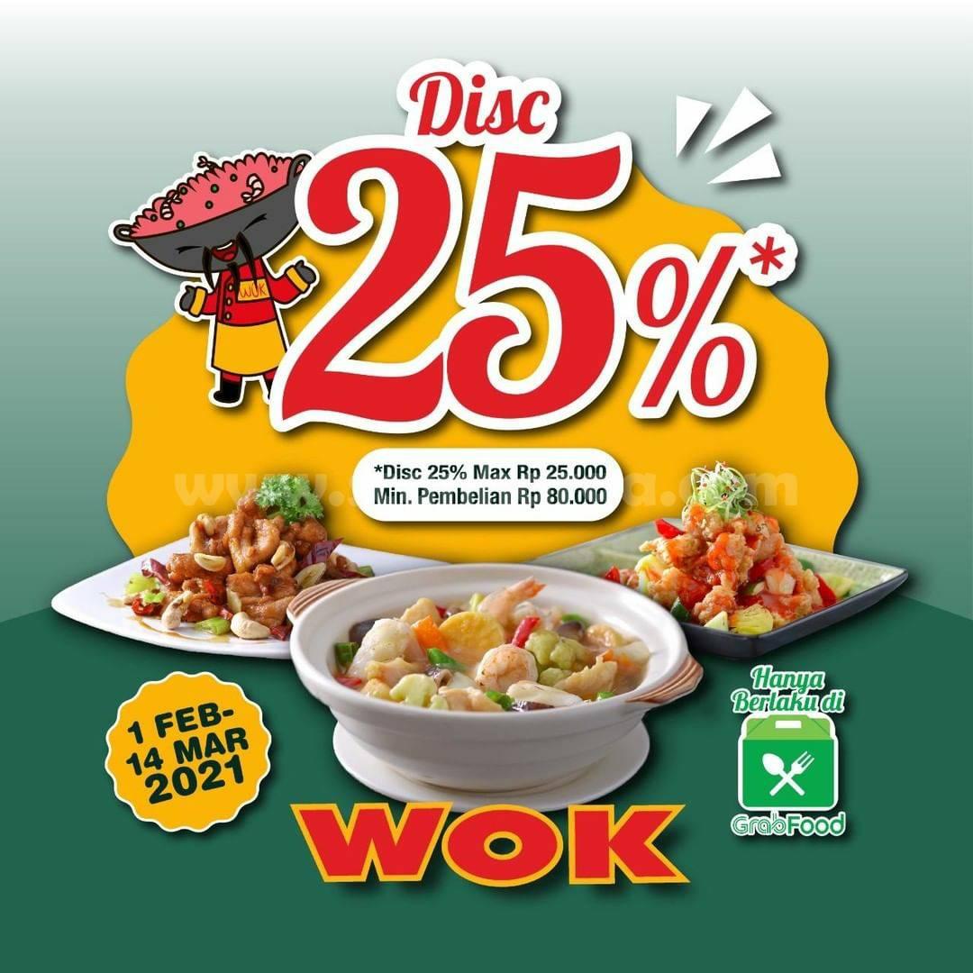 WOK Restaurant Spesial Promo GRABFOOD! DISKON hingga 25%