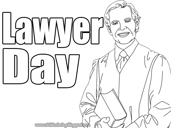 lawyer coloring pages - photo#17
