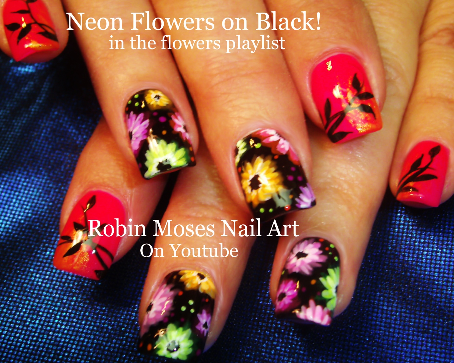 Nail Art By Robin Moses Tropical Nails With Essie Sunshine State Of