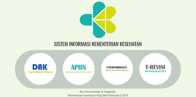 E-Renggar, Aplikasi Perencanaan Online Kementerian Kesehatan