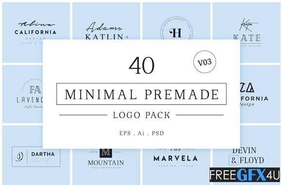 Minimal Premade Logo Pack V03