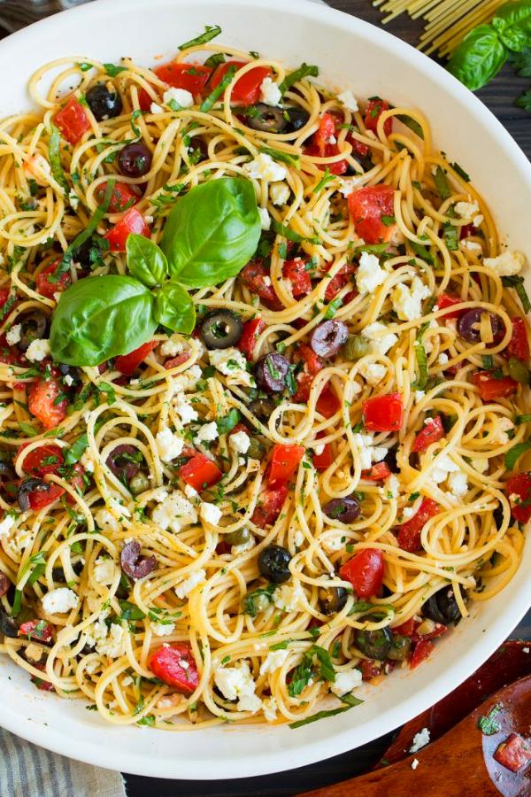 Greek Spaghetti Toss