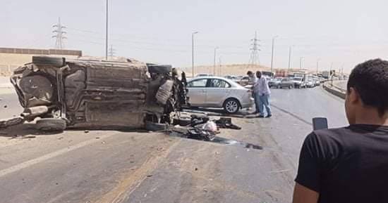 إصابة 8 في حادث تصادم بين الجبلين بمنطقة 15 مايو