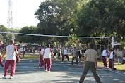 Kebersamaan TNI dan POLRI, Korem 162/WB Dan Polda NTB Gelar Olahraga Bersama