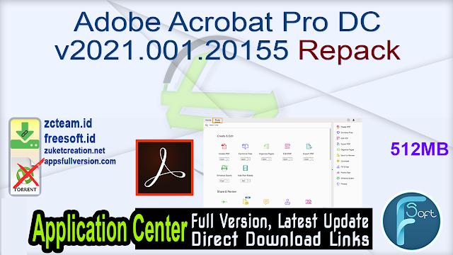 Adobe Acrobat Pro DC v2021.001.20155 Repack _ ZcTeam.id