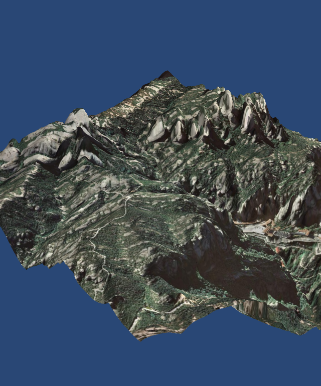 GeoExamples: 3D terrain visualization with python and Mayavi2