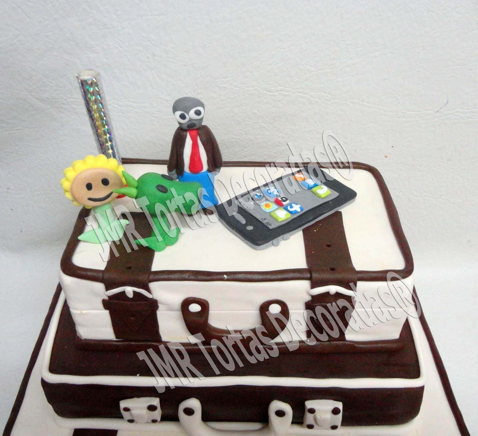 Torta y cake pops plants vs zombies valijas viaje torta - Pisos pilotos decorados ...