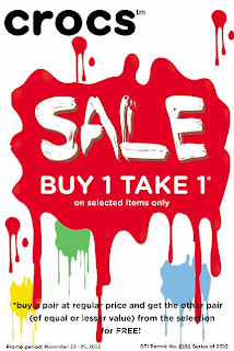 Manila Shopper Crocs Buy1 Get1 At Marquee Mall Nov 2012