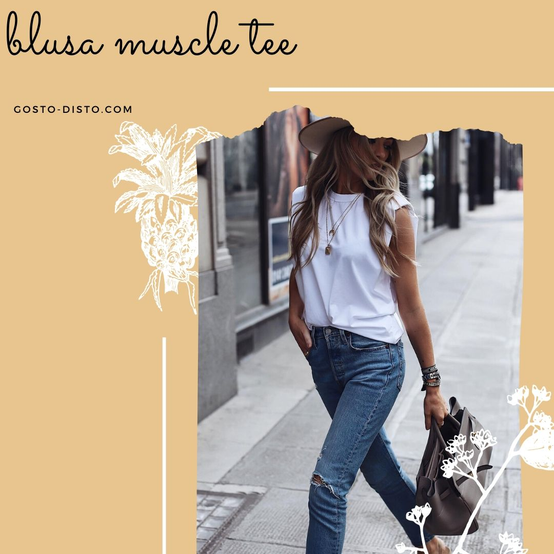 Camiseta Muscle Tee com ombreira