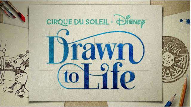 Drawn to Life Disney Cirque Du Soleil Show Logo Walt Disney World