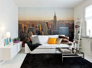 decoração com vista aérea de Nova York