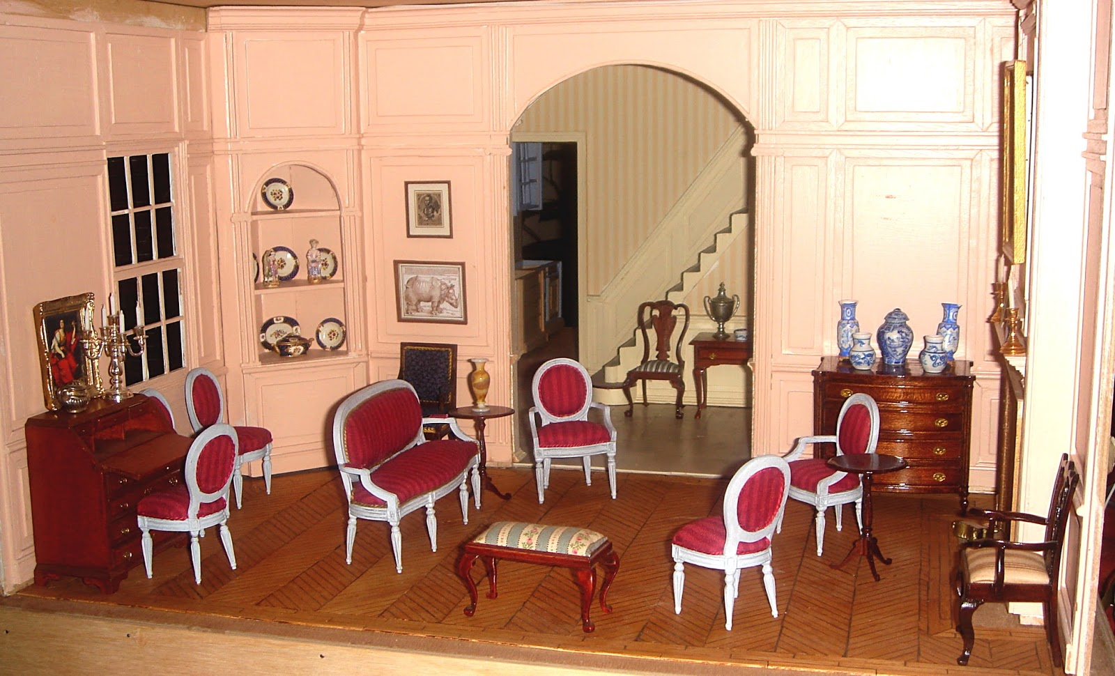 Le salon dor salon louis xvi for Salon louis 16
